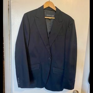 Kenneth Cole black cotton blazer